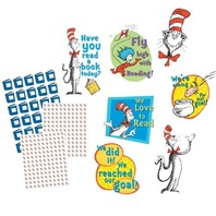 "Eureka Dr. Seuss Reading Goal Kit Bulletin Board Set, 4 Panels 17 x 24"" Each"