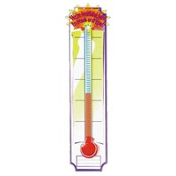 Eureka Vertical Classroom Banner, Goal Setting Thermometer, 45 x 12 Inches (849580)