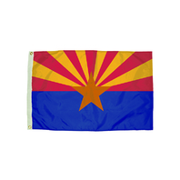 3X5 NYLON ARIZONA FLAG HEADING &