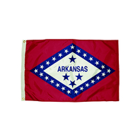 3X5 NYLON ARKANSAS FLAG HEADING &