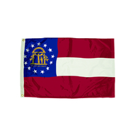 3X5 NYLON GEORGIA FLAG HEADING &