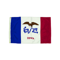3X5 NYLON IOWA FLAG HEADING &