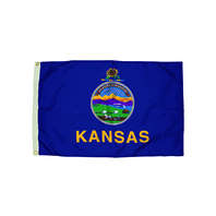 3X5 NYLON KANSAS FLAG HEADING &