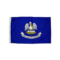 3X5 NYLON LOUISIANA FLAG HEADING &