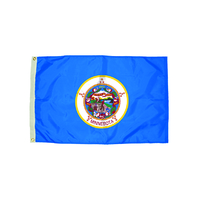 3X5 NYLON MINNESOTA FLAG HEADING &
