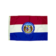 3X5 NYLON MISSOURI FLAG HEADING &