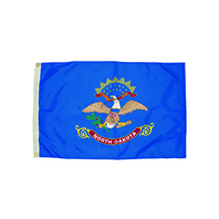 3X5 NYLON NORTH DAKOTA FLAG HEADING