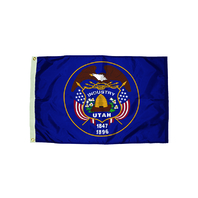 3X5 NYLON UTAH FLAG HEADING &