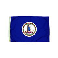 3X5 NYLON VIRGINIA FLAG HEADING &