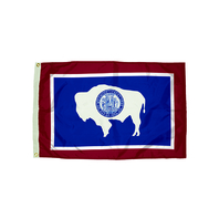 3X5 NYLON WYOMING FLAG HEADING &