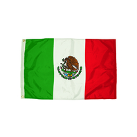 3X5 NYLON MEXICO FLAG HEADING &