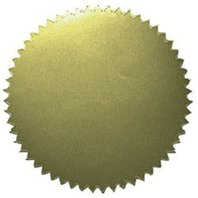 """2"""" Gold Stickers - Blank; 50 Per Pack; no. H-VA313"""