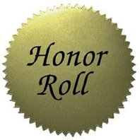 Gold Award Stickers-Honor Roll; 50 Per Pack