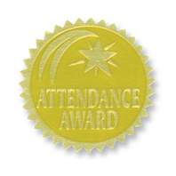 GOLD FOIL EMBOSSED SEALS ATTENDANCE