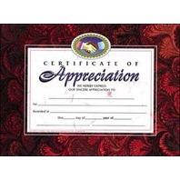 Certificates Of Appreciation 30 Pk
