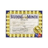 Student Of The Month Certificates; 30 Per Pack