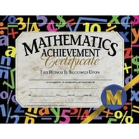 Hayes Certificates - Math Achievement - 8 1/2 x 11 inch - Pack of 30