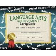Language Arts Certificates; 30 Per Pack
