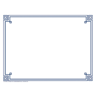 FOUR SQUARE BORDER PAPER BLUE