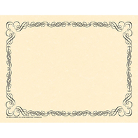 ARABESQUE BORDER PAPER BLACK