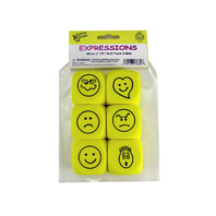 FOAM EXPRESSIONS DICE SET OF 6