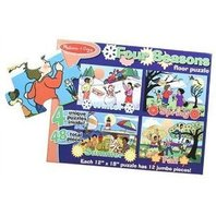 Deluxe Four Seasons Cardboard Floor Puzzles - Set of 4