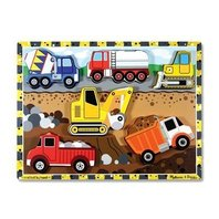 Melissa & Doug Construction Wooden Chunky Puzzle