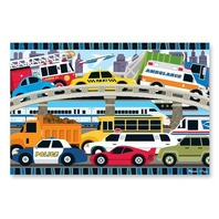Melissa & Doug Traffic Jam Floor Puzzle 2'x3'