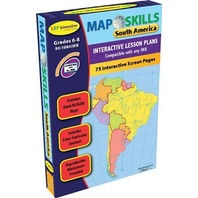 Map Skills: South America Iwb: Ready-To-Use Digital Lesson Plans