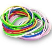 Rubber Bands; Assorted Sizes/Colors; Approx 250 Per Pack