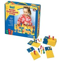 Lauri Toys Number Puzzle Boards & Pegs