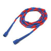 Jump Rope; 16 Ft -Plastic Sections On Nylon Rope; Assorted Colors; no. MASJR16