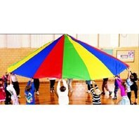 Parachute; 12 Ft. Diameter; 12 Handles; Multi-Colored; no. MASP12