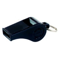 "Black Plastic Whistle, Small 1-3/4""L; Pack of 12; no. MASP20"