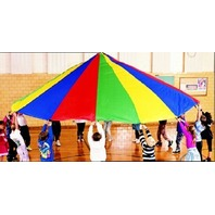 Parachute; 6 Ft. Diameter; 8 Handles; Multi-Colored; no. MASP6