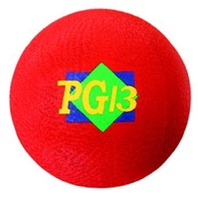 "Playground Ball; Red; 13"" Diameter; no. MASPG13R"