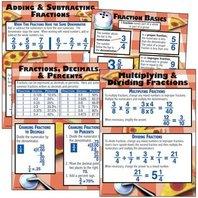 Mcdonald Publishing Mc-p137 Fraction Basics Poster Set