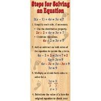 Colossal Poster: Algebra-Steps For Solving An Equation; no. MC-V1642