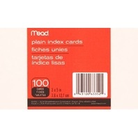 Mead Plain Index Cards, 3 X 5 Inches (63352)