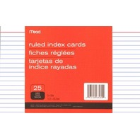 Mead Ruled Index Cards, 5 X 8 Inches (63580)