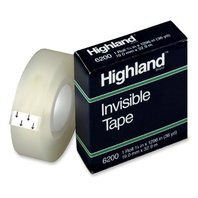 Highland Invisible Permanent Mending Tape, 3/4 x 1296 Inches, 1 Inch Core, Clear (6200341296)