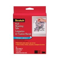 Scotch® Wall Mounting Tabs 7225, 1/2-inch x 3/4 Inches, 480 Tabs per Box