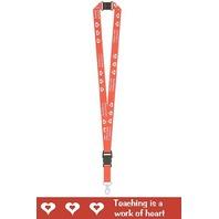 Teacher Lanyards Teaching Is A Work Of Heart