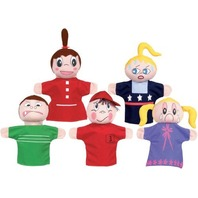 Get Ready Kids Caucasian Feelings Puppets Set