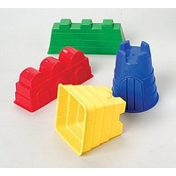 Sand Castle Molds, Assorted Colors, 4 Mold Set; no. MTC171