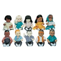 Multi-Ethnic 10 Doll School Set
