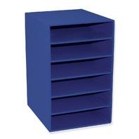 Classroom Keepers 6 Shelf Organizer, Blue