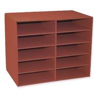 Classroom Keepers 10 Shelf Organizer, Red