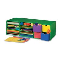 "Classroom Keepers Crafts Keeper, 9 3/8""H X 30""W X 12 1/2""D, Green"
