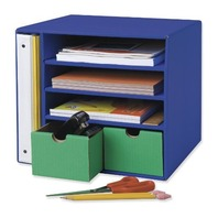 "Classroom Keepers Management Center, 12 3/8""X13 1/2""X12 3/8"", Blue"